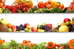 5张水果蔬菜横幅高清图片