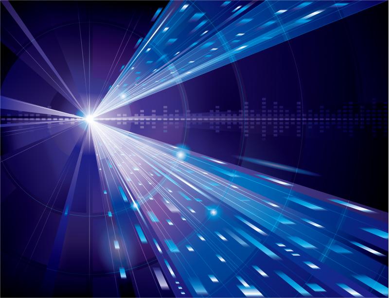 光�9aby�%_蓝色光效箭头科技背景矢量素材