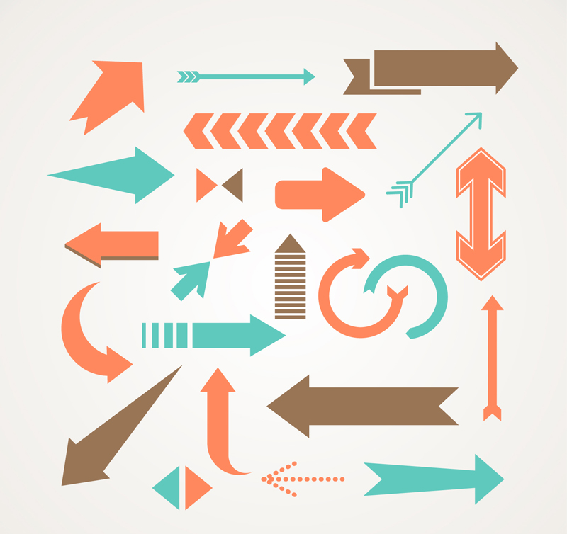 22款创意箭头设计矢量素材图片