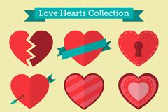 9款扁平化爱心设计矢量素材