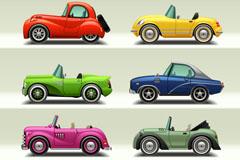 8款卡通汽车设计矢量素材