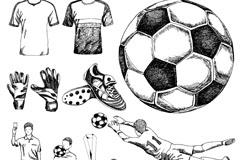 12款手绘足球元素矢量素材