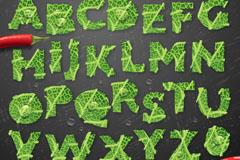 创意蔬菜字母设计矢量素材