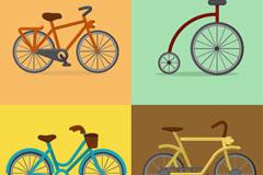 4款创意自行车设计矢量素材