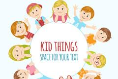 11个创意儿童装饰标签矢量素材