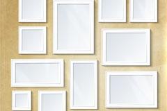 白色相框照片墙乐虎娱乐