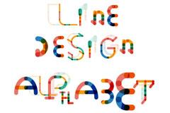 26个拼色字母设计矢量素材