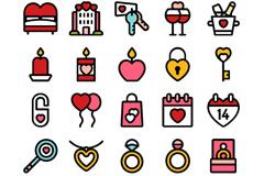 25款情人节元素图标矢量素材