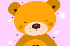 卡通棕色熊矢量素材