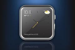 精致智能手表图标矢量素材