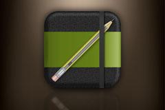 精致记事本app图标矢量素材