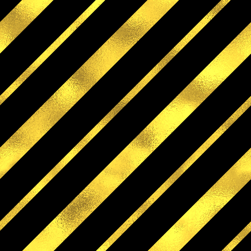 【金色与黑色相间条