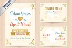 7款创意婚礼卡片矢量素材