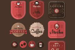 15款质感咖啡元素标签矢量图