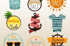 9款创意夏季促销标签矢量素材