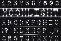 40款月光字母与符号矢量素材