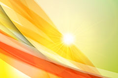创意黄色线条光晕背景矢量素材