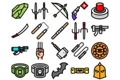 20款创意游戏图标矢量素材