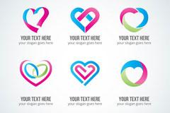 6款创意爱心元素标志矢量图