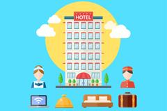 11款扁平化酒店元素图标矢量素材