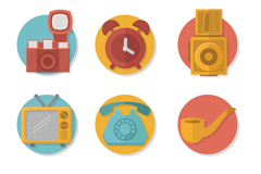 9款精致相机等生活用品图标矢量素材