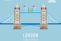 创意伦敦塔桥矢量素材
