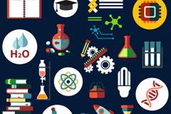 27款精致科学和化学元素学习用品图标矢量素材