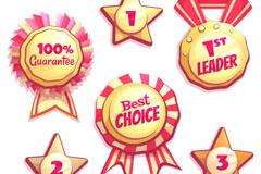 6款创意销售奖牌和徽章矢量素材