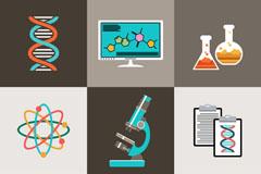 9款科学实验元素图标矢量素材
