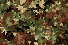 抽象迷彩花纹无缝背景矢量图