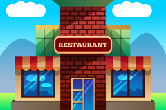 创意餐馆设计矢量素材