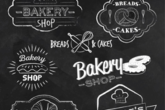 7款创意面包店标签矢量素材