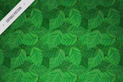 绿色叶子叠加无缝背景矢量素材