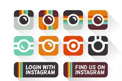 12款Instagram分享图标设计矢量素材