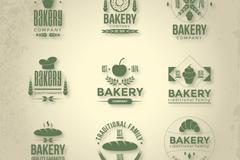 9款绿色烘培食品标识矢量素材
