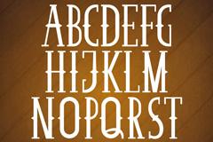 26个复古大写英文字母设计矢量图