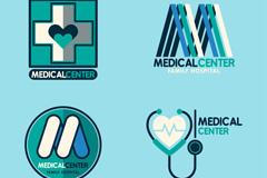 4款创意医疗中心标志矢量素材
