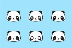 9款可爱熊猫表情头像乐虎娱乐