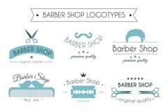 9款美容美发店标志矢量素材