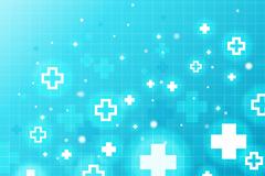 蓝色医疗符号背景矢量素材