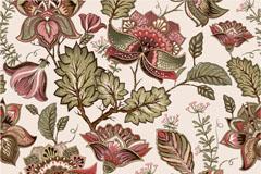 复古花卉样式无缝背景矢量素材