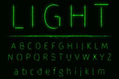 61款绿色灯效字母与符号矢量图