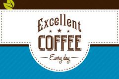 优质咖啡宣传单矢量素材