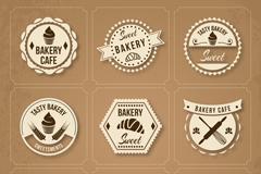 9款精致烘培食品标签矢量素材