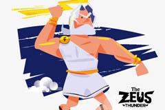 卡通希腊众神之神宙斯矢量素材