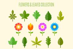 18款花朵和叶子设计矢量素材