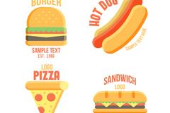 4款创意快餐标志矢量素材