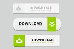 4款网页下载按钮设计矢量素材