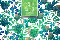 绿色自然树叶时尚背景矢量素材