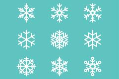 9款冬季白色雪花元素矢量素材